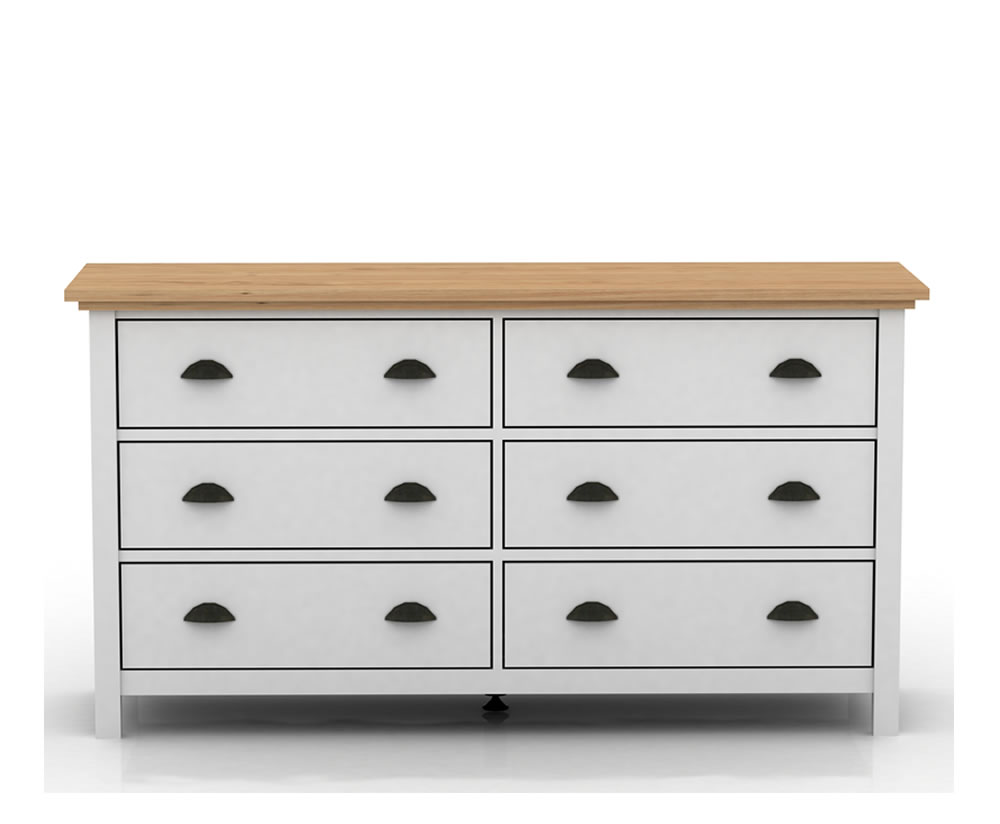 Evelyn Two Tone 6 Drawer Chest