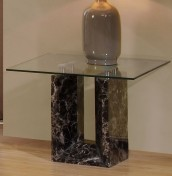 Irving Glass and Marble Lamp Table