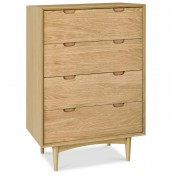 Orbit Oak 4 Drawer Chest