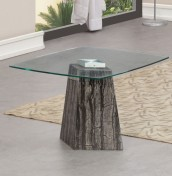 Oracle Marble and Glass Lamp Table