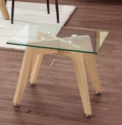Darton Glass and Oak Effect Lamp Table
