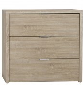 Lotus Oak 3 Drawer Chest