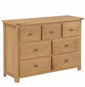 Ambrose Oak 3+4 Drawer Chest