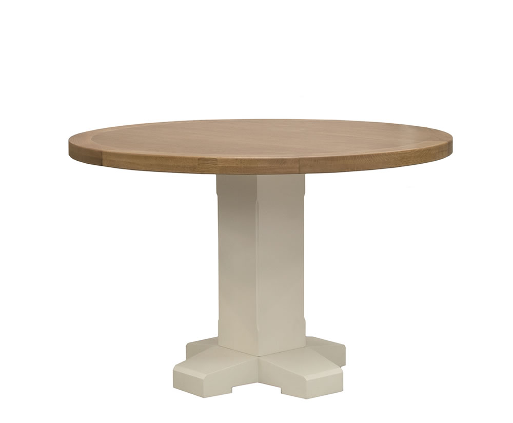 Marne Two Tone Round Dining Table