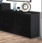Vogue 6 Drawer High Gloss Chest