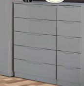Safara 5 Drawer Cashmere High Gloss Chest