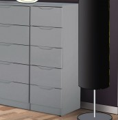 Safara 5 Drawer Tallboy Cashmere High Gloss Chest