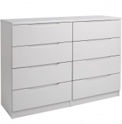 Safara 8 Drawer Cashmere High Gloss Chest
