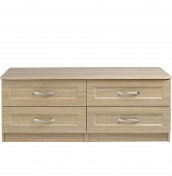 Alonzo Oak 4 Drawer Bed Box Chest