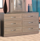 Alonzo Oak 6 Drawer Wide Chest