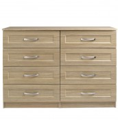 Alonzo Oak 8 Drawer Wide Chest