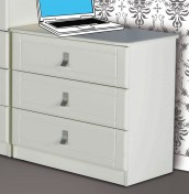 Sigrid White 3 Drawer Chest