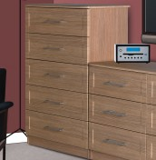 Marcello Oak 5 Drawer Chest