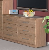 Marcello Oak 6 Drawer Wide Chest
