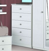 Toliara White 5 Drawer Chest