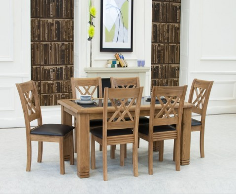 Murray Solid Oak And Granite Dining Table And Chairs