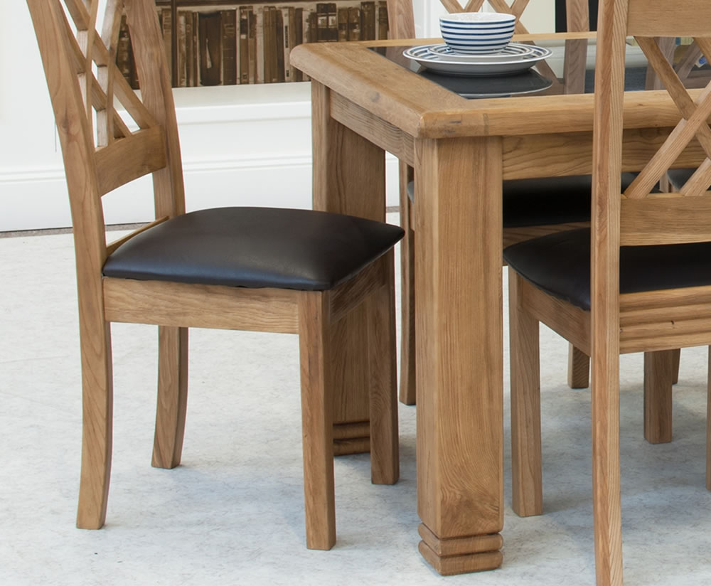 solid oak and granite dining table and chairs table option dining