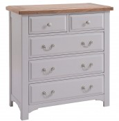 Everette Two-Tone 2+3 Drawer Chest