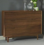 Orbit Walnut 3 Drawer Wide Chest