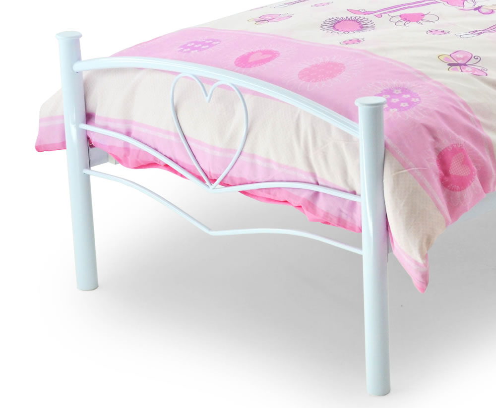 White Metal Frame Toddler Bed