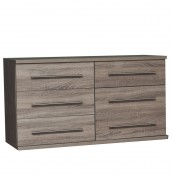 Henderson Dark Oak 6 Drawer Wide Chest