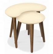 Oslo Walnut and Ivory Nest of Tables