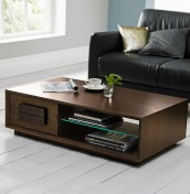 Rayton Walnut Coffee Table with Drawer