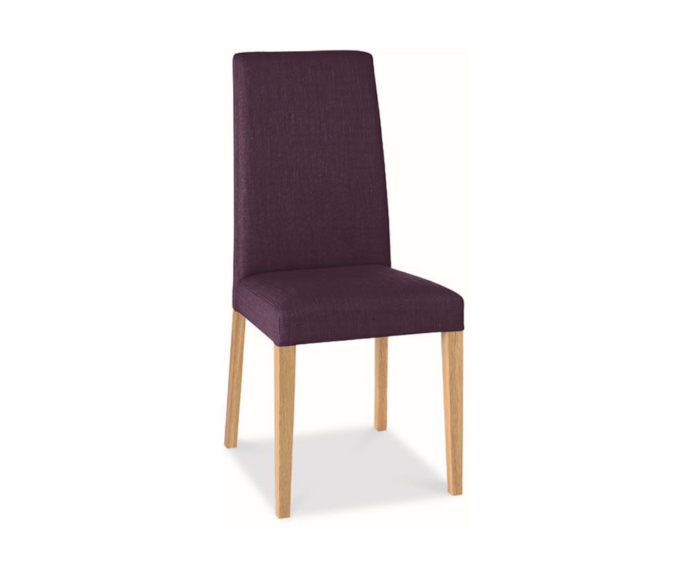 Miles Oak And Plum Upholstered Dining Chairs