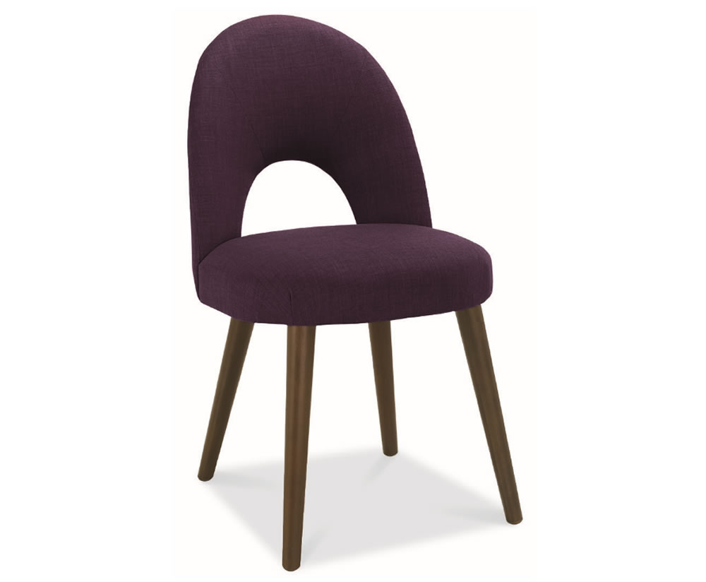 Oslo plum upholstered dining chairs set of 2 for Plum dining room chairs