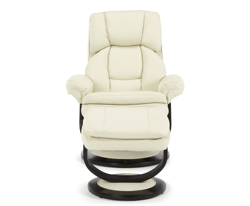 Finley Cream Bonded Leather Recliner Chair