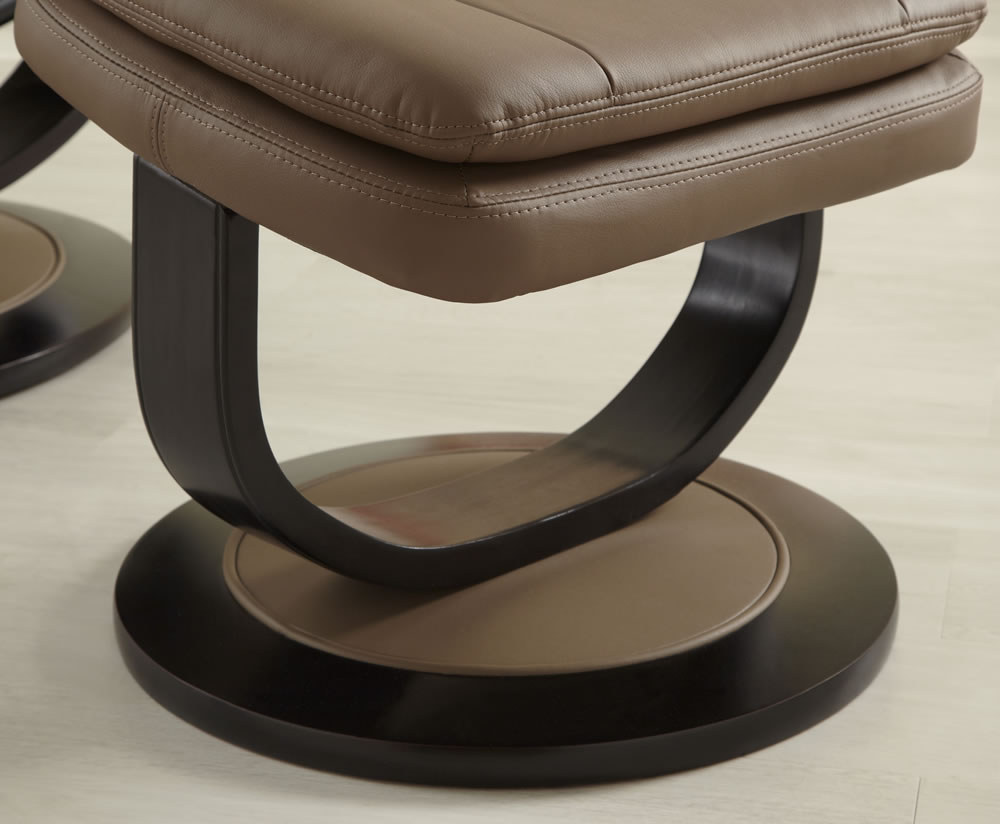 Finley Brown Bonded Leather Recliner Chair Frances Hunt