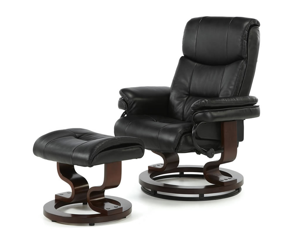 Spencer Black Faux Leather Recliner Chair Frances Hunt