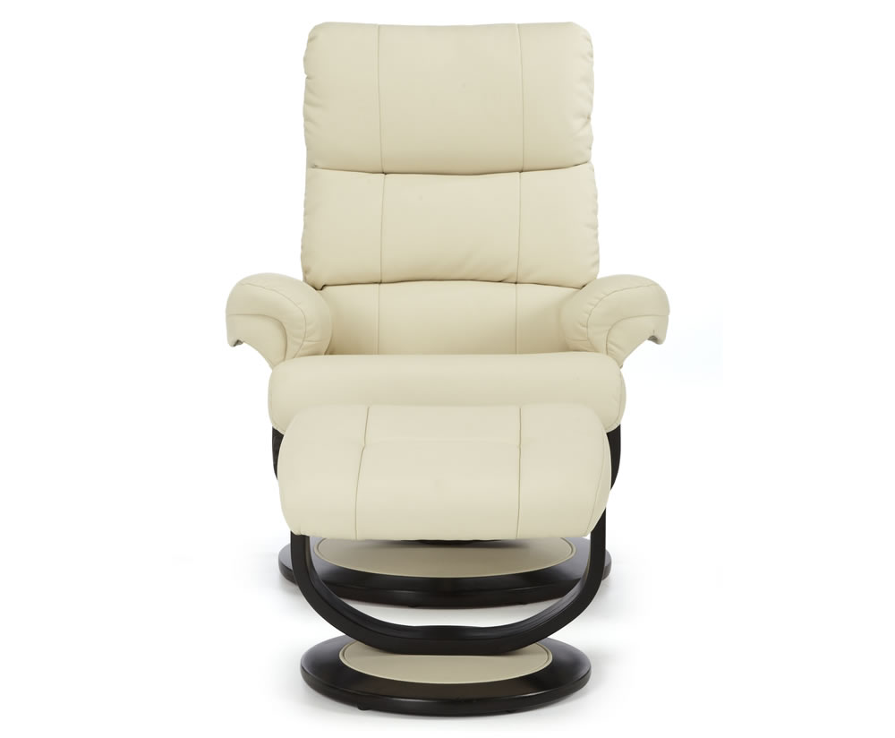 strava cream faux leather recliner chair frances hunt