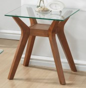 Newport Walnut and Glass Lamp Table