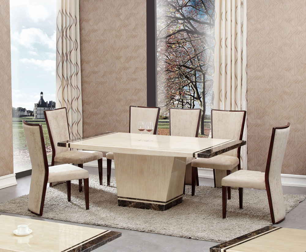 Reagan Marble Effect Dining Table And Chairs
