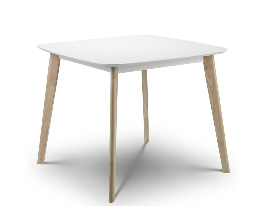 madeira white lacquer dining table