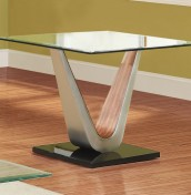 Jefferson Walnut Effect and Glass Lamp Table