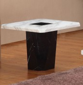 Houston Marble Effect Lamp Table