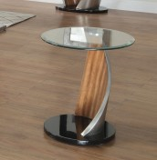 Benton Walnut Effect and Glass Lamp Table
