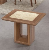 Pryor Marble and Walnut Effect Lamp Table