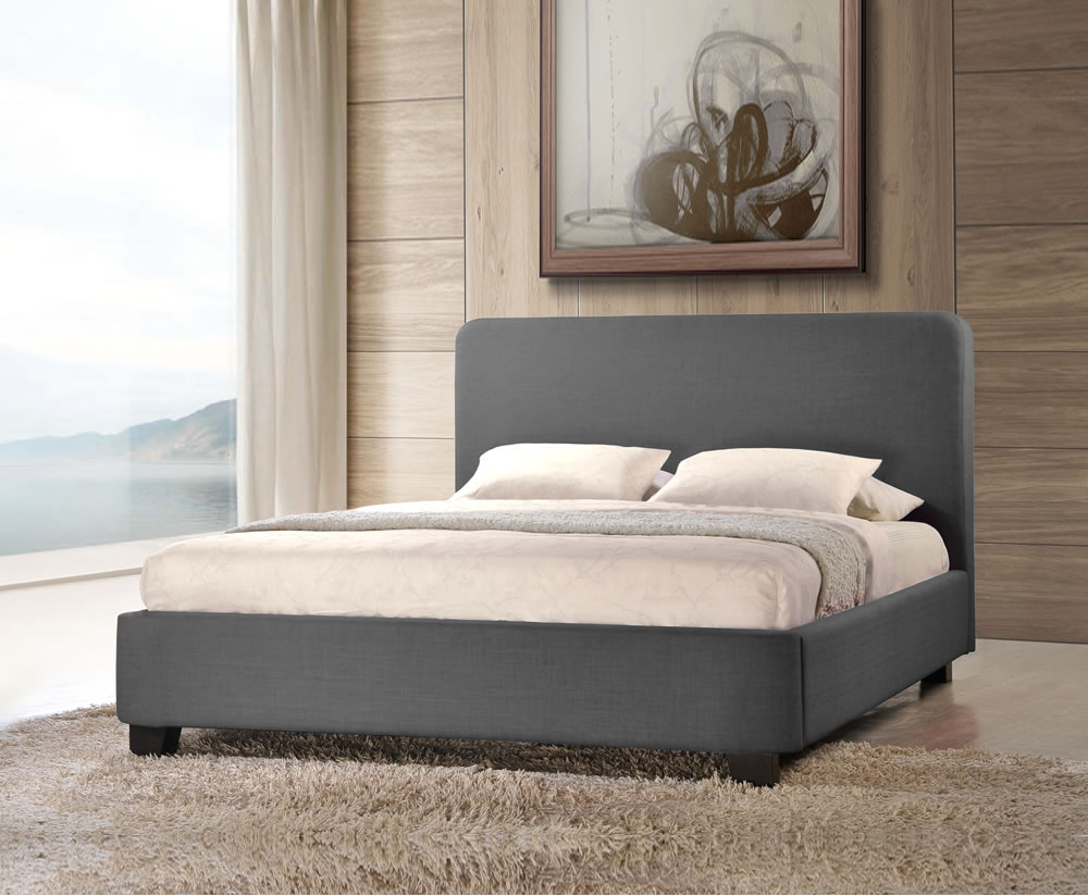 Corsica grey upholstered bed frame for Upholstered bed frame
