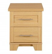 Melody 2 Drawer Oak Bedside Chest