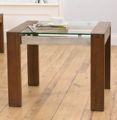 Lucera Walnut Lamp Table