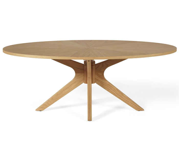 Bedford Oval Oak Coffee Table Frances Hunt