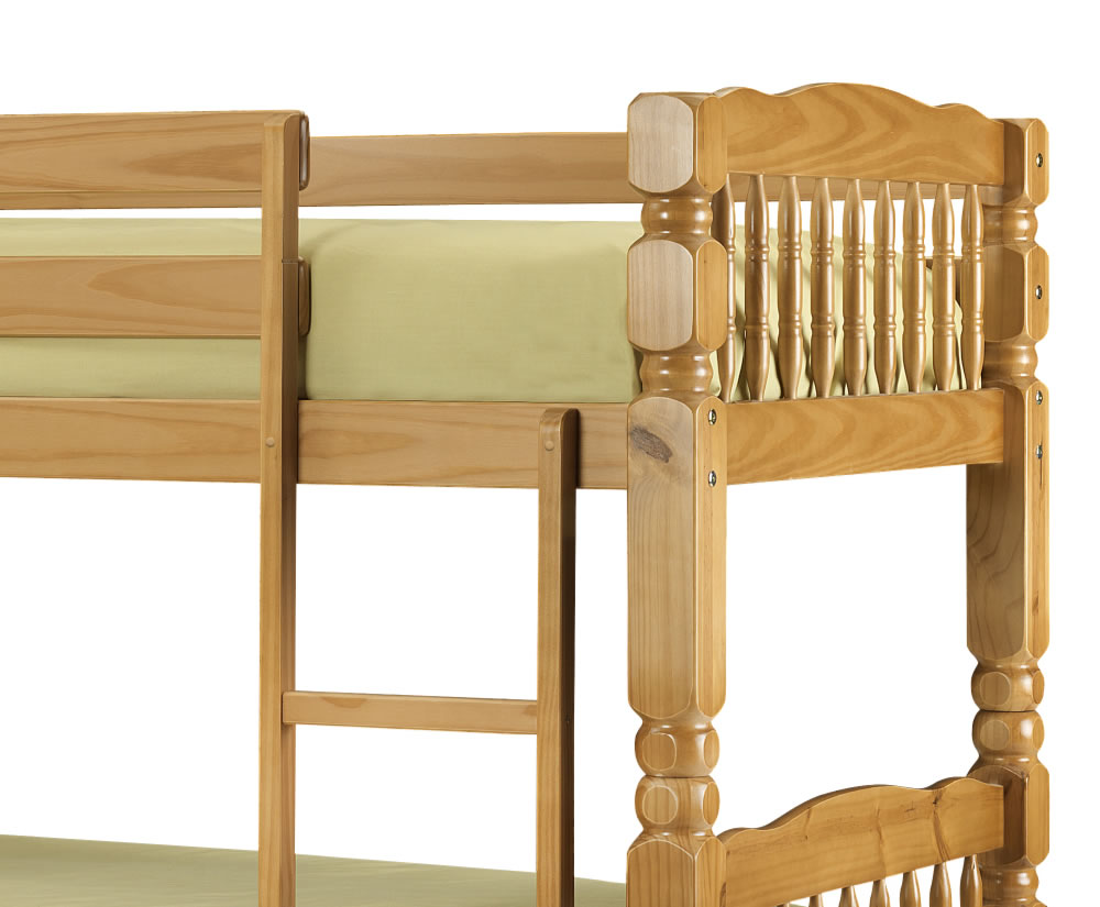 Home decorating pictures solid bunk beds for Unfinished loft bed