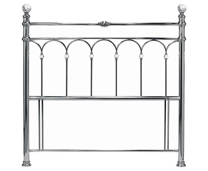 Krystal Nickel Metal Headboard