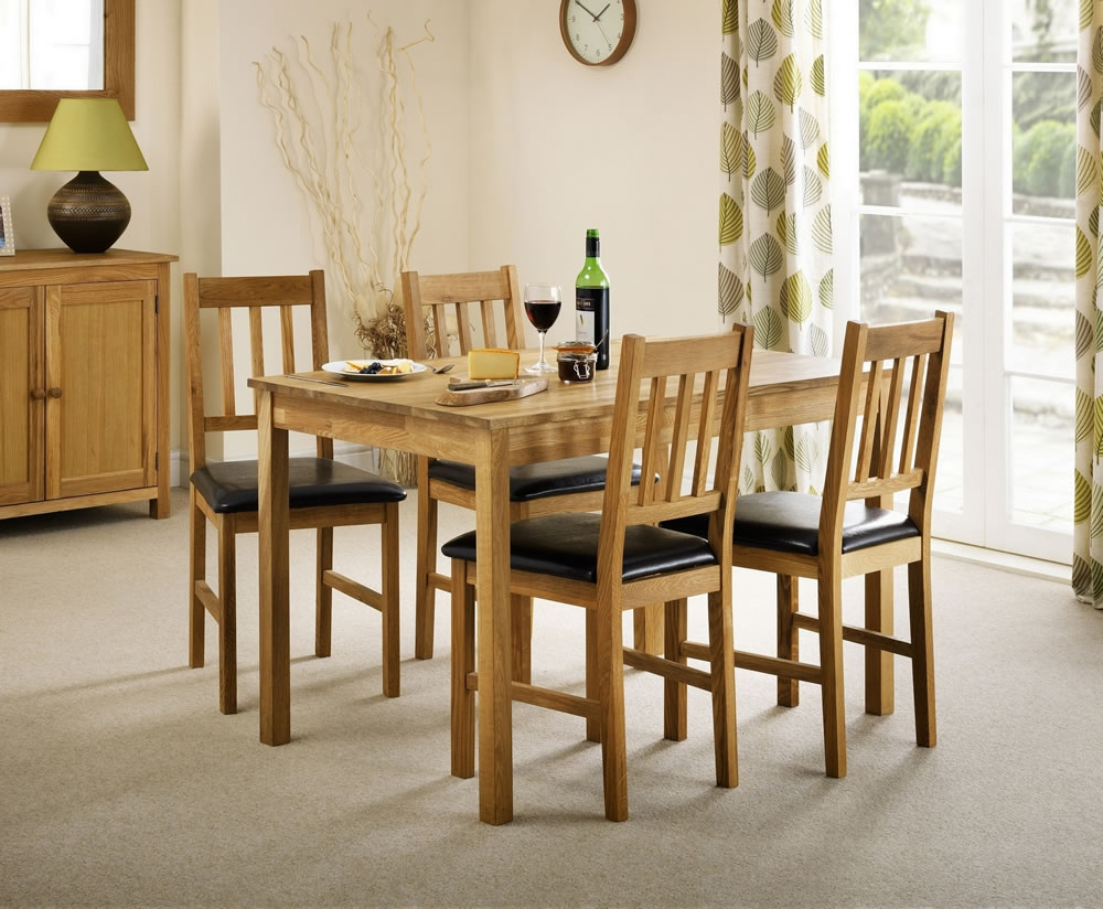 Belstone solid oak dining table and chairs uk delivery