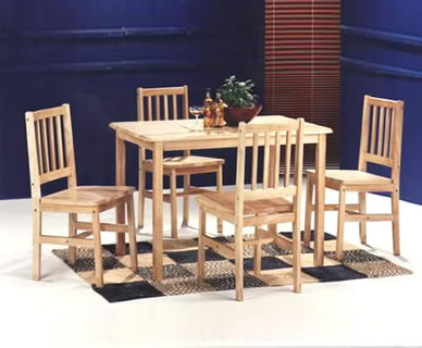 Hayley Wooden 4 Chair Dining Set *Special Offer*