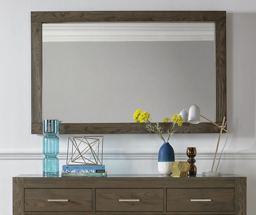 Living Room Mirrors Gym Wall: Ventura Dark Oak Wall Mirror