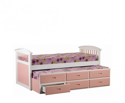 Captain Beds Kids on Kids Club Pink Captains Bed